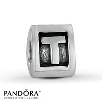 Pandora Letter T Charm Sterling Silver