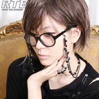 Gothic Lolita Eyeglasses Holder Multi-layer Ball Chain