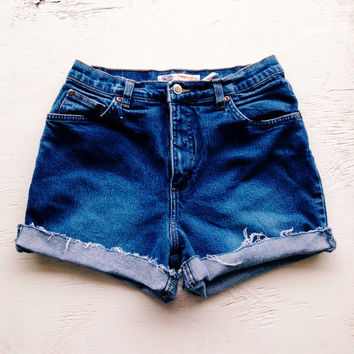 Stretchy High Waisted Denim Shorts Size 6/7