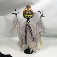 GOURD Come Scare With Me - Gourd Headed Halloween Figure by Haunted Lynda