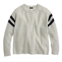 J.Crew Womens Collection Cashmere Sweater In Varsity Stripe