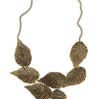 Leafing Town Necklace | Mod Retro Vintage Necklaces | ModCloth.com