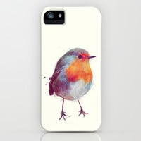 Winter Robin iPhone & iPod Case by Amy Hamilton