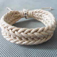 Jewelry bangle ropes bracelet woven bracelet girls bracelet women bracelet leather bracelet made of  hemp ropes woven bracelet cuff  SH-1942