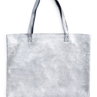 Shimmer Suede 'Cava' Tote