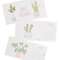 Houseplants 2015 Postcard Calendar - 12 Month