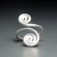 Spirals Adjustable Ring