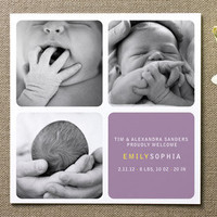Checkers Birth Announcements by Aasa Ranneby at Minted.com