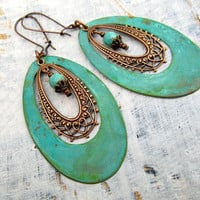 Unique Big Hoop earrings Boho Bohemian earrings  Bohemian Jewelry