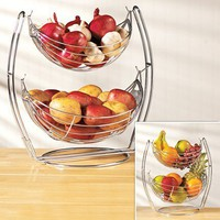 Double-Tier Produce Basket - Fresh Finds - Cooking > Cooking & Baking