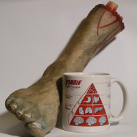 Zombie Coffee Mug Food Pyramid  Zombie Survival : Great holiday gift for Him, her, geeks, dudes, guys, and gals