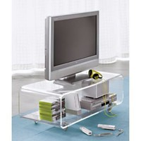 CB2 - peekaboo clear media console