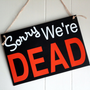 True Blood inspired hanging door sign