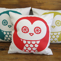 OWL Pillow Cover- cushion 100% cotton