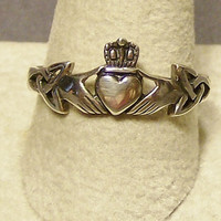 Sterling Silver Claddagh Ring Made to order