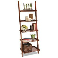 Amazon.com: American Heritage Cherry Bookshelf Ladder Style 8043391: Home & Garden