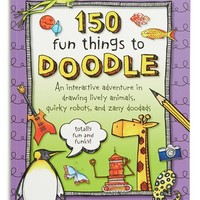 '150 Fun Things to Doodle' Drawing Book