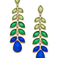 Blue Bijoux Blue Green Long Stem Earrings - Max &amp; Chloe