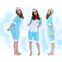 DDCAT Lovely Blue Cotton Jumpsuit Kigurumi Costume Animal Pajamas [C20120718] - £29.31 : Zentai, Sexy Lingerie, Zentai Suit, Chemise