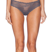 Cosabella Trenta Lace Thong in Charcoal