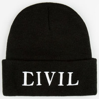 Civil Trap Beanie Black One Size For Men 24565210001