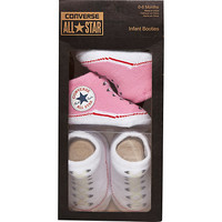 River Island Mini girls pink Converse booties