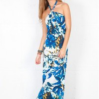 T Bags Halter Maxi Dress