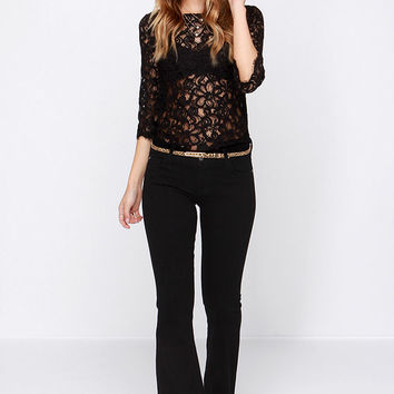 Here to Flare Black Flare Jeans