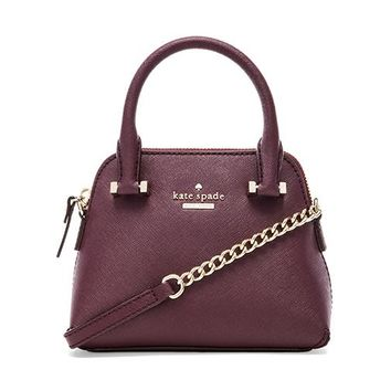 kate spade new york Mini Maise Crossbody Bag in Wine