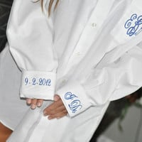 Monogram Bride Shirt Button Down for Wedding Day