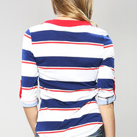 Striped Vneck Top