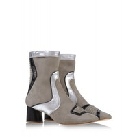 Marc Jacobs Mixed Media Ankle Boot - Leather & Suede Boot - ShopBAZAAR