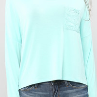 Lace Back Long Sleeve