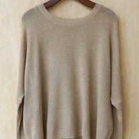 In The Mood For Fall Sweater, Taupe