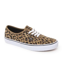 Vans Authentic Leopard Suede Shoes - Mens Shoes - Tan