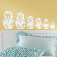 Wall Decals: Kids Russian Doll Nesting Wall Decals