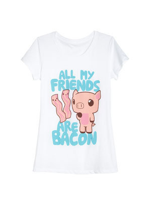 All My Friends Are Bacon Tee