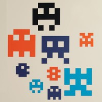 Kids' Wall Decals & Wallpaper: Kids 8-Bit Creature Wall Decal Stick Ons