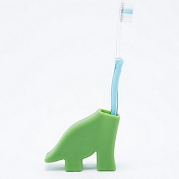 Dinosaur Diego Toothbrush Holder in Green - Urban Outfitters