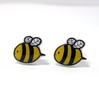 Bumble Bee Earrings - Yellow Black .. on Luulla