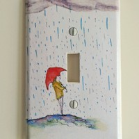 Standing in The Rain Decorative Light Switch Plate by idillard
