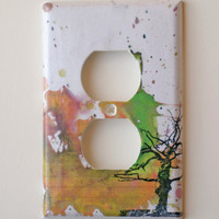Tree Decorative Light Switch Plate Cover Outlet Made by idillard