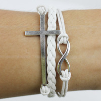 Bracelet karma-bracelet infinity bracelet,cross bracelet God's blessing gift for friends for boys girlfriend