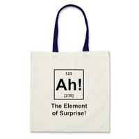 Ah! The Element of Surprise Canvas Bags from Zazzle.com