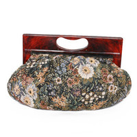 Floral Tapestry Handle Bag