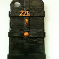 221B Baker Street Sherlock inspired AT&T Verizon Sprint iPhone 4 or 4S hard cover case