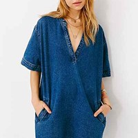 BDG Raw-Edge Denim Shirt Dress-