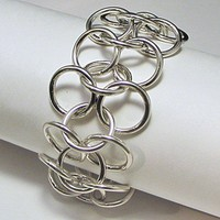 Chain Link Sterling Silver Bracelet Big and Bold