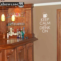 Keep Calm and Drink On - Vinyl Wall Art - FREE Shipping