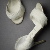 Feather Trimmed d?Orsays in the SHOP New at BHLDN
